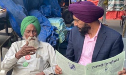 Mr. Sukhi Chahal visited farmer protest sites second time in India to discuss the concerns of farmers